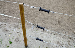 Electric pasture fence Stock Photos