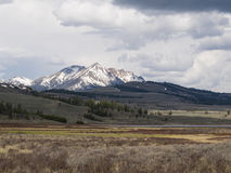 Electric Peak and Sepulcher Mountain Royalty Free Stock Photos
