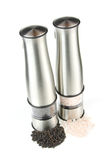 Electric pepper and salt mills Stock Image