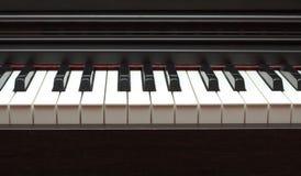 Electric piano keyboard closeup Stock Photos