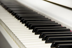Electric Piano Keyboard white instrument Stock Photos