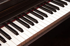 Electric piano keys closeup Royalty Free Stock Image