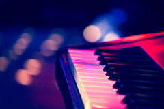 Electric piano on stage Stock Image