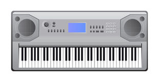 Electric piano. Vector illustration of electric piano with keys. Eps format is available Royalty Free Stock Photo