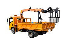 Electric picker car isolated on white. Royalty Free Stock Photo