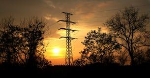 Electric pillar Stock Image