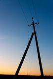 Electric pillar after sunset Stock Photos