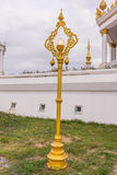 Electric Pillar in White Temple in thai Royalty Free Stock Image