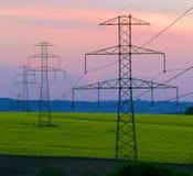 Electric pillars Stock Photography