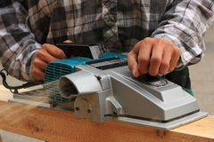 Electric planer Royalty Free Stock Image
