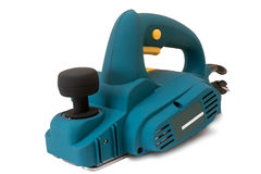 Electric planer on white background.G Royalty Free Stock Photography