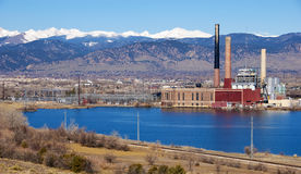 Electric Plant in a Scenic Setting Stock Photography