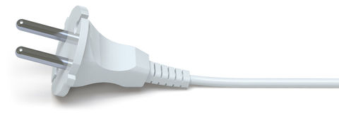Electric plug. On a white surface Stock Photo