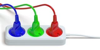 Electric plug Stock Photos