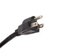 Electric plug. Closeup of an electric plug Stock Photography