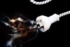 Electric plug Stock Photography