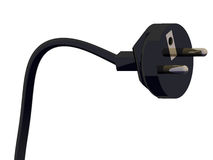 Electric plug 3d. A black virtual 3D electric plug Vector Illustration