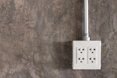 Electric plug circuit Royalty Free Stock Photography