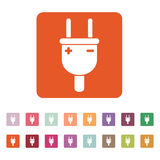 The electric plug icon. Electric Plug symbol. Flat Royalty Free Stock Photos