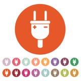 The electric plug icon. Electric Plug symbol. Flat Stock Photos