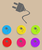 Electric plug icon. The electric plug icon - illustration Stock Photos