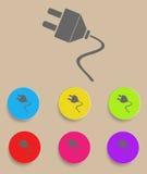 Electric plug icon Stock Photos