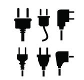 Electric plug icon Stock Images