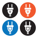 Electric plug icons Royalty Free Stock Images