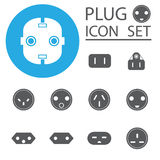 Electric plug illustration on white background Royalty Free Stock Images