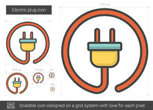 Electric plug line icon. Royalty Free Stock Photos