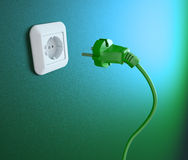 Electric plug and an outlet Royalty Free Stock Photography