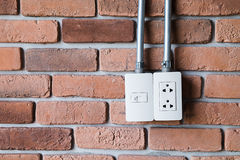 Electric plug outlet Royalty Free Stock Photo