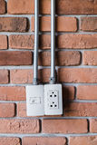 Electric plug outlet Royalty Free Stock Photography