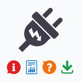 Electric plug sign icon. Power energy symbol Royalty Free Stock Photography