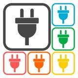 Electric plug sign icon, Power energy symbol set Stock Photography