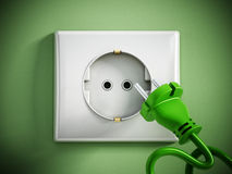 Electric plug and socket Royalty Free Stock Photos