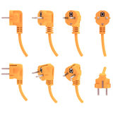 Electric plug from various angles, 3d render Royalty Free Stock Photo