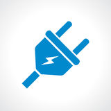 Electric plug vector icon Royalty Free Stock Image