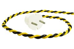 Electric plug and wire Stock Photos