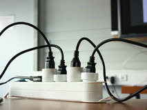 Electric plugs Stock Image
