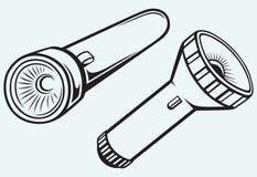 Electric pocket flashlight Stock Photos