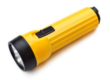 Electric Pocket Flashlight Royalty Free Stock Photo