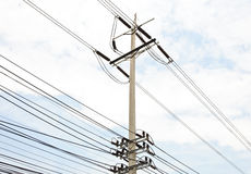 Electric pole Stock Photos