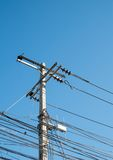 Electric Pole in the city Stock Photo