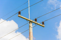 Electric pole close up Stock Photos