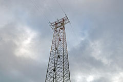 Electric Pole. On a cloudy day stock photography