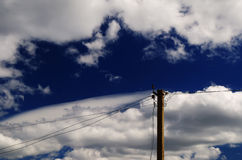 Electric pole Royalty Free Stock Photos