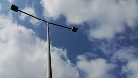 Electric pole. The electric pole has the sky as the background Royalty Free Stock Image