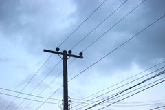 Electric pole. Electric pole for home use Royalty Free Stock Image