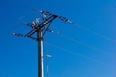 Electric pole horizontally Royalty Free Stock Photography
